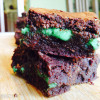 Peppermint Stuffed Brownies