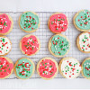 Frosted Shortbread Christmas Cookies