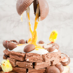 Creme Egg Anti-Gravity Easter Brownie Nest