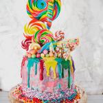 Rainbow Lollipop Birthday Cake
