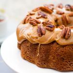 Brown Sugar and Pecan Caramel Bundt Cake {Gluten Free}