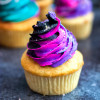 Fireworks Cupcakes - Gluten Free Vanilla Cupcakes with Popping Candy