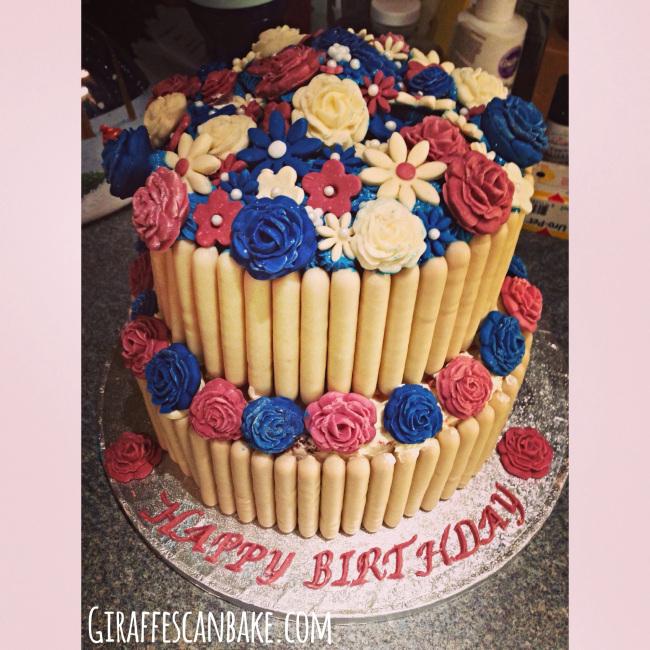 40th Birthday Cadbury Fingers Cake