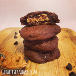 Peanut Butter Stuffed Chocolate Pudding Cookies