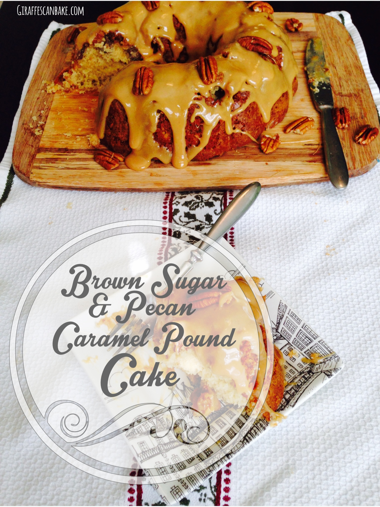 Brown sugar and pecan caramel pound cake
