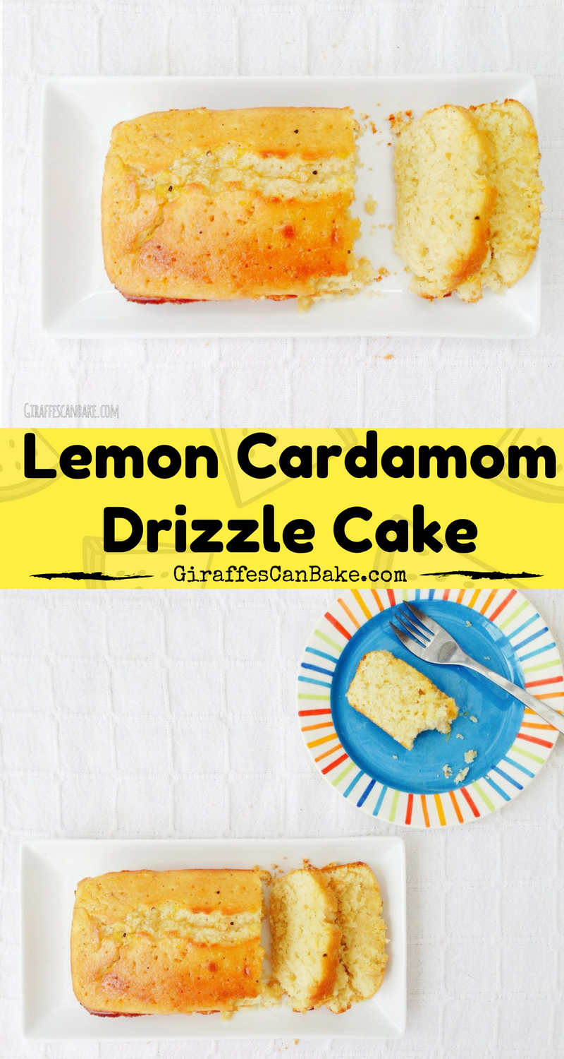 Lemon Cardamom Drizzle Cake - a delicious twist on the classic British cake! Moist, light, and full of flavour, it's a real star bake!