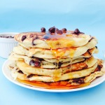 American Style Cake Batter Chocolate Chip Pancakes