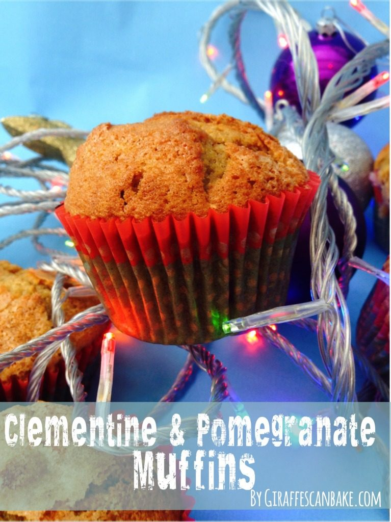 These Clementine and Pomegranate Muffins are the perfect way to get your Christmas fix in the mornings, full of festive flavours and totally delicious!