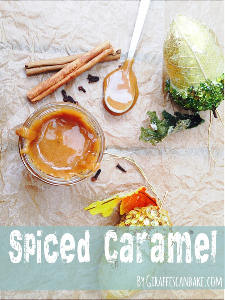 This Christmas Spiced Caramel is full of delicious festive spices, drizzle it on everything and anything this holiday season! It's so easy to make and so delicious!