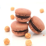 Chocolate and Hazelnut Macarons