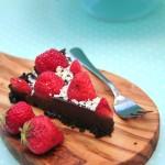 No Bake Strawberry and Chocolate Boozy Tart