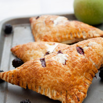 Apple and Blackberry Cream Turnovers - Flakey, buttery, from sratch Puff Pastry with an amazing Apple & Blackberry Filling and Fresh Whipped Cream