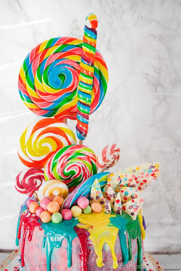 Rainbow Lollipop Birthday Cake  Giraffes Can Bake