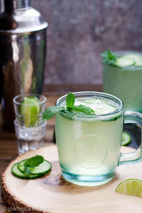 Cucumber Mint French 75, also known as a Diamond Gin Fizz - this wonderfully refreshing summer cocktail is made with homemade cucumber gin, fresh mint and lime juice, served in a sours or hi ball glass and topped up with Champagne or Prosecco. It's the perfect summer cocktail