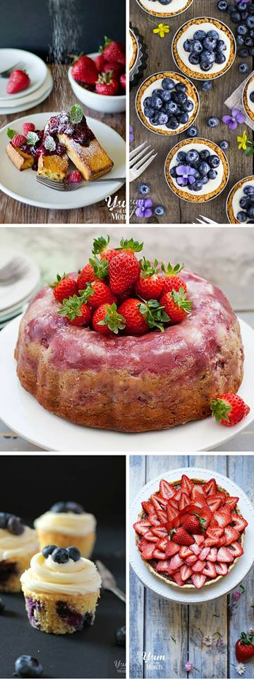 Yum of the Month - Five awesome bloggers stepping up to a delicious monthly challenge. This month's theme - Fresh fruit. Check out the Baked French Toast with Berry Compote, Lemon Bluberry Tarts, Strawberry Cheesecake Upside Down Bundt Cake, Blueberry Cupcakes with Lemon Cream Cheese Frosting and Strawberry Nutella Tart.