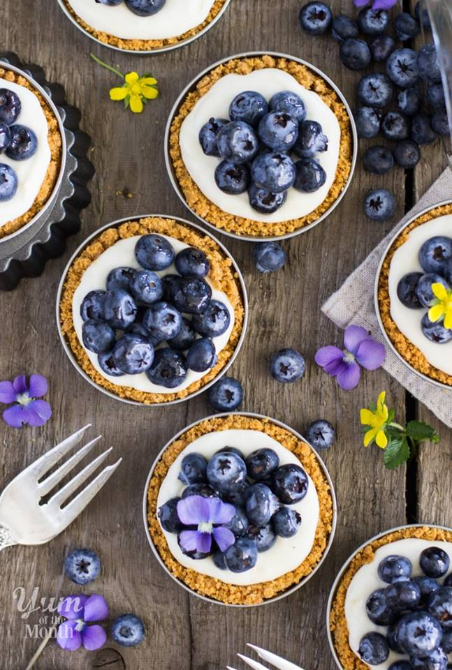 Lemon Blueberry Tarts by Sugar Spun Run