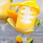 Peaches 'n' Cream Margarita Popsicles