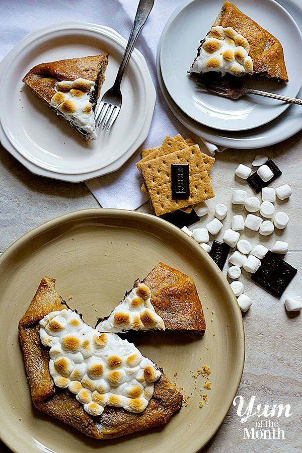 S'mores Galette from Unicorns in the Kitchen