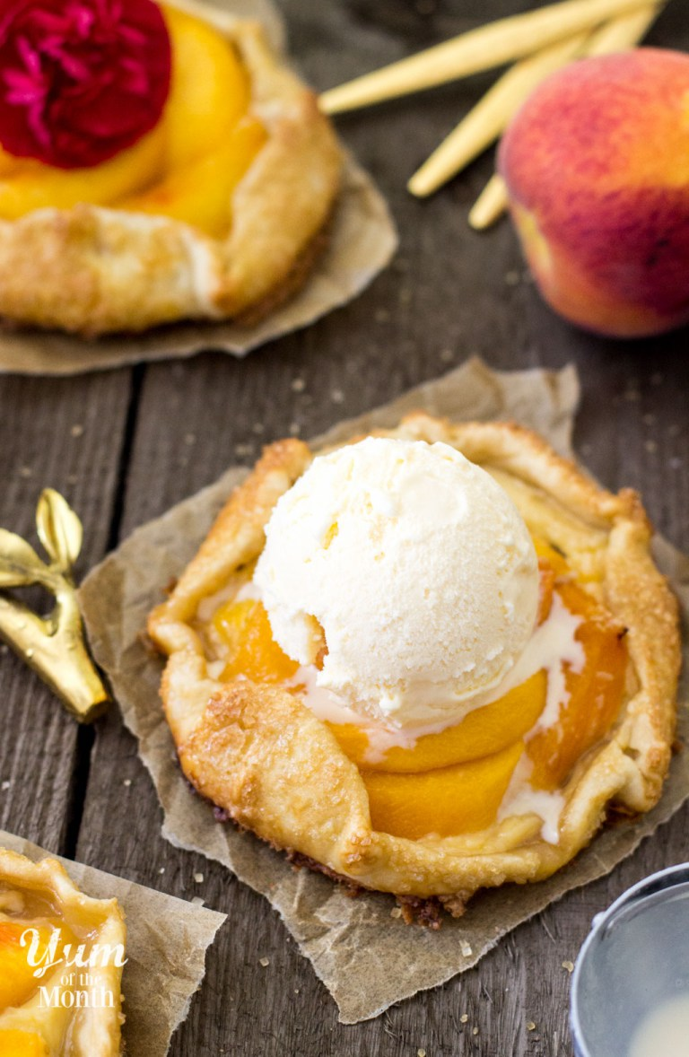 Peaches & Cream Galettes from Sugar Spun Run