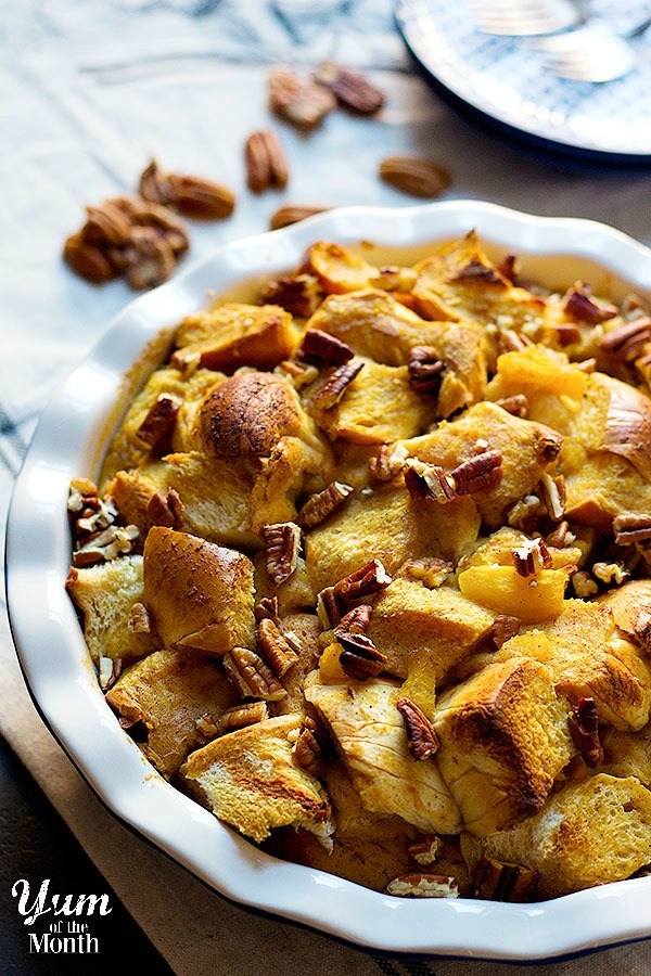 Pumpkin Pecan Bread Pudding from Unicorns in the Kitchen