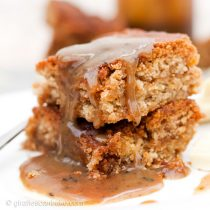 Snickerdoodle Salted Caramel Blondies - These Snickerdoodle Salted Caramel Blondies are the perfect indulgent fall dessert. Delicious, cinnamon packed fudgy blondies, studded with white chocolate chunks and layers of gooey, salted caramel. Top with even more salted caramel for a really decadent dessert!