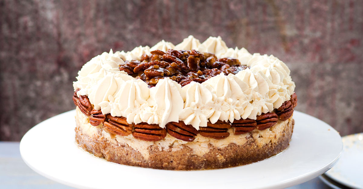 Pecan Pie Cheesecake {Gluten Free} |