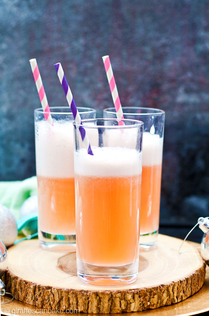 Grapefruit and Thyme Fizz (Mocktail) - Three amazing holiday cocktails that are totally delicious, really festive and are quick and easy to make in your Vitamix! Grapefruit juice, thyme syrup and tonic water.