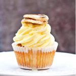 Pancake Cupcakes with Lemon Buttercream Frosting and Lemon Syrup