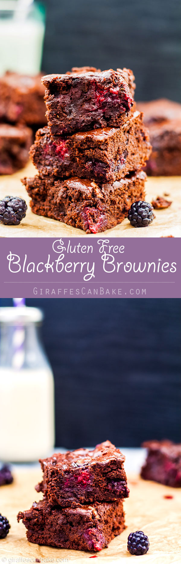 These totally fudgey, gooey, decadent Gluten Free Blackberry Brownies are the ultimate chocolate fix. The rich, fudgy chocolate combined with bursts of sweet wild blackberries will have you coming back for more.  They're so easy to make, and no mixer is needed - so get your apron on and let's bake!