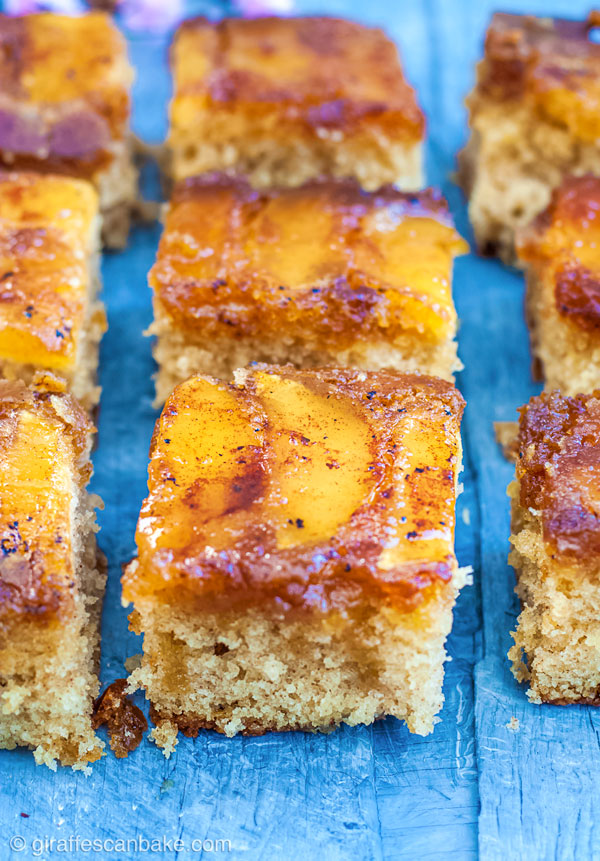 Gluten Free Apple Upside Down Cake is moist, light and fluffy, with perfectly caramelised apples baked into the top #glutenfree #apples #fall #cake