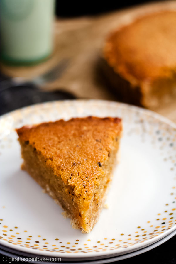 Gluten Free Treacle Tart - a close up of the tart on a plate