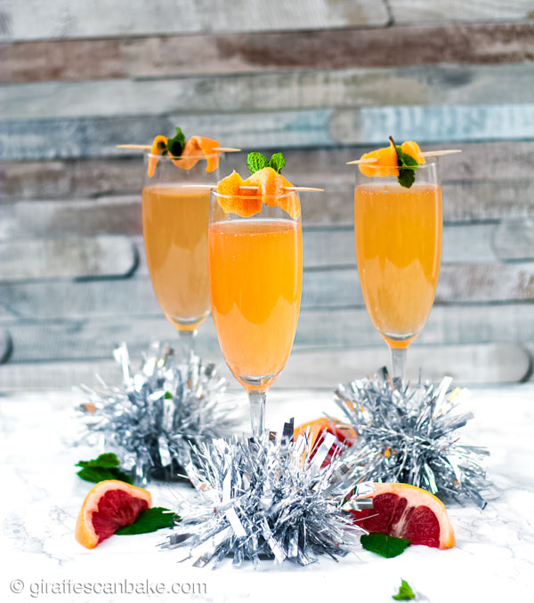 This Brandy Grapefruit Mimosa is the only holiday champagne cocktail you need this festive season! It is perfect to serve for Christmas Brunch!