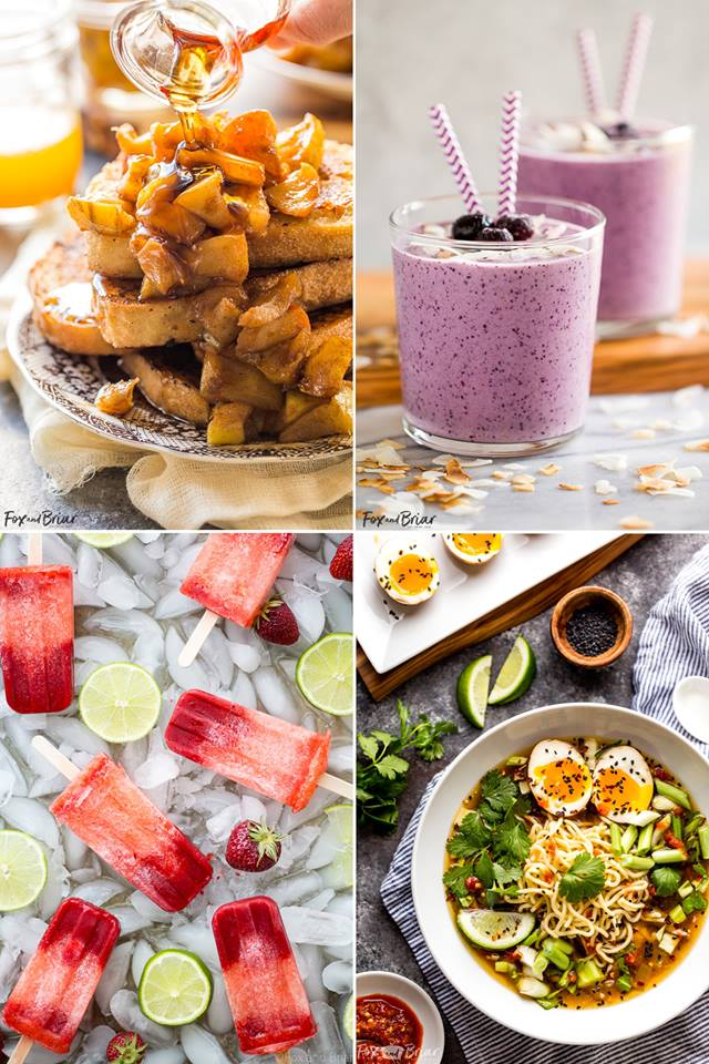 Collage of recipe photos from Fox and Briar!